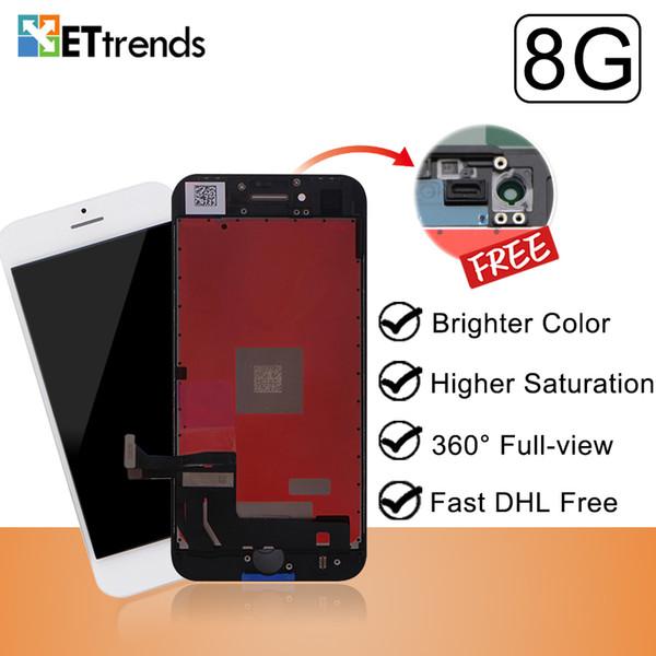 Display di qualità eccellente per iPhone 8 Lcd Screen Assembly Factory Fornisce direttamente Frame Cold Press No Dead Pixel DHL Fast Shipping