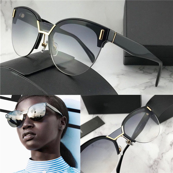 Luxury-new fashion designer sunglasses hide 04u Frameless cat eye frame top quality uv 400 lens outdoor women popular summer eyewear
