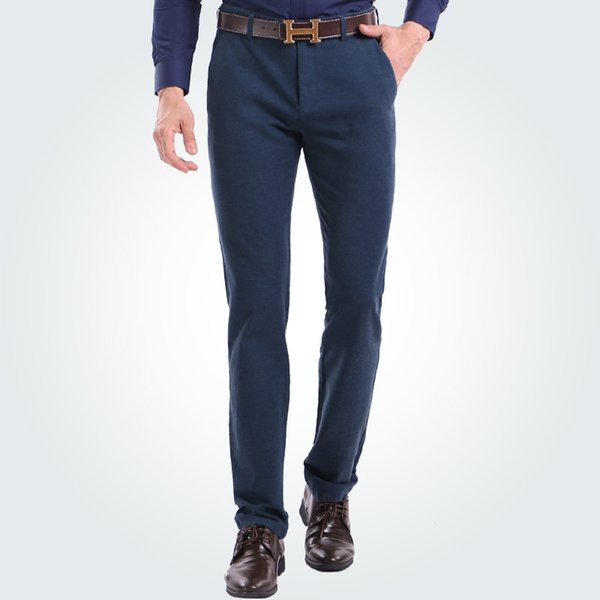 Wholesale- Promotion 2016 New Winter Fashion Thick wearable brushed men trousers Good quality fashion formal male casual pants 29 to 40size
