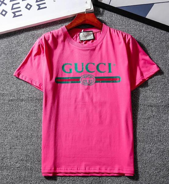 Люксовый бренд Лето футболка мода прилив футболка для мужчин дизайнер рубашки Письмо печати повседневная Мужчины Женщины круглый вырез горячая продажа размер S-2XL