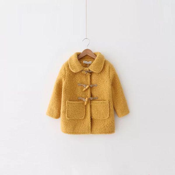 Children's fashion coat baby girl autumn and winter coat long-sleeved coat baby girl cotton warm windbreaker