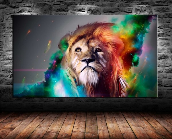 Backgrounds Lion 4k,1 Pieces Canvas Prints Wall Art Oil Painting Home Decor (Unframed/Framed) .