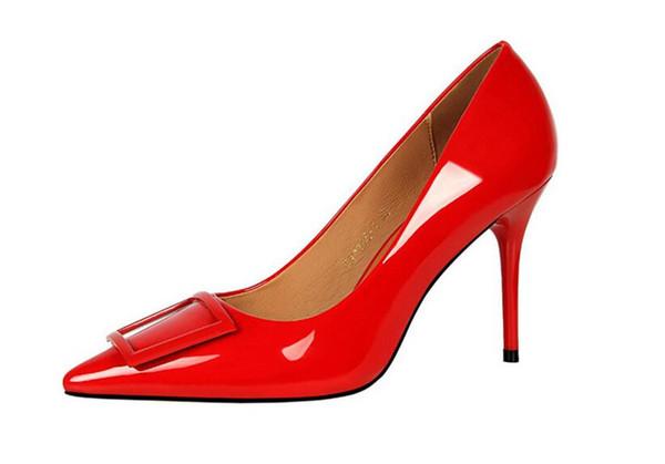 2020 lady STAN SHARK Summer Women Flock Square Heel Sandals High Heels Buckle Strap Female Woman Dress Sandal Shoes For Girls Plus Size