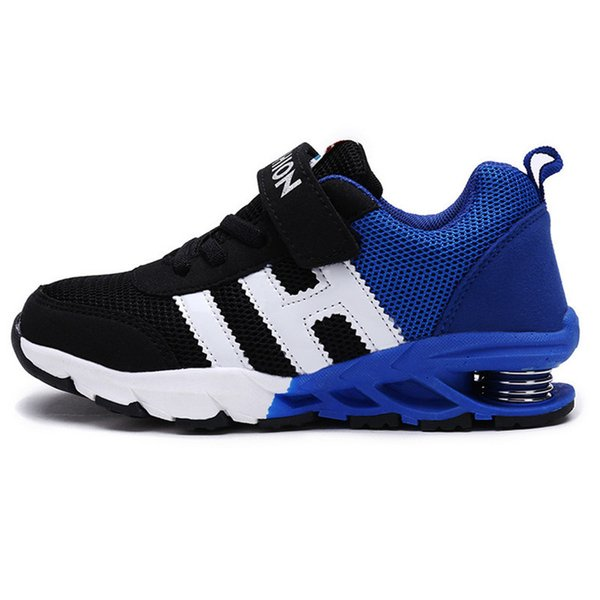 2019 Autumn Fashion Children Shoes Boys Girls Breathable Sport Shoes Slip Spring Net Surface Boy Sneakers For Kids Running Shoes Y19061906
