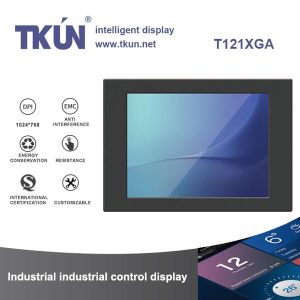top popular 12.1 inch industrial touch monitor 12 inch five-wire resistive screen T121XGA B121XGA 2019