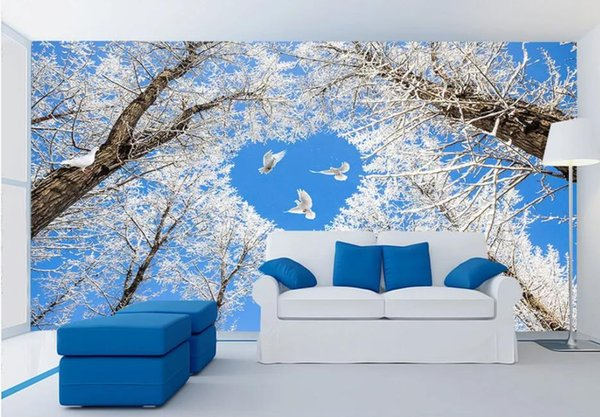 Woods landscape background wall painting mural 3d wallpaper 3d wall papers for tv backdrop