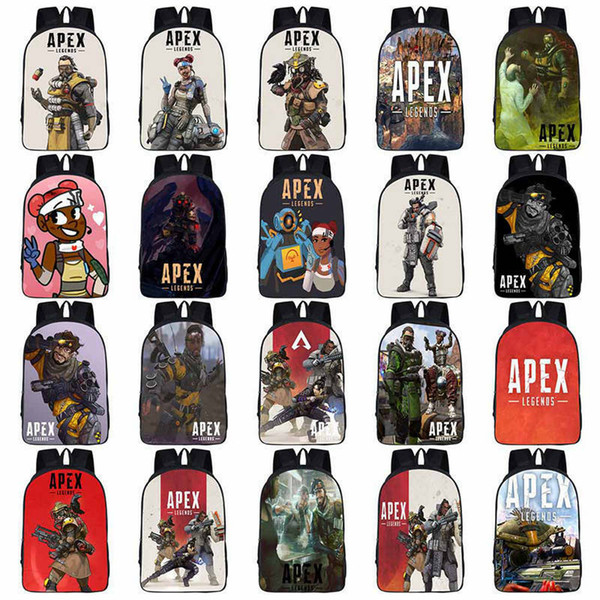 Apex Legends Backpack 38 Styles 3D Printed Cartoon Game Anime Student Comfort Rucksack Bag Battle Royale Outdoor Bags 30pcs OOA6491