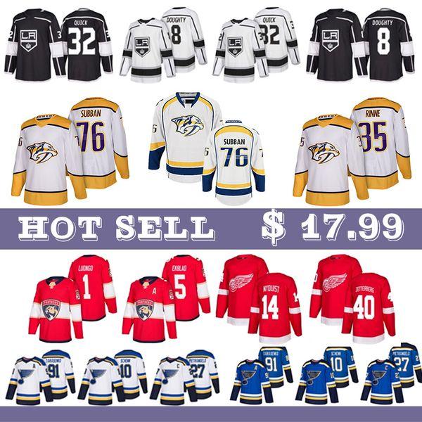 top popular St. Louis Blues 91 Vladimir Tarasenko 27 Alex Pietrangelo Nashville Predators 35 Pekka Rinne 76 P.K. Subban 9 Filip Forsberg Hockey Jerseys 2019