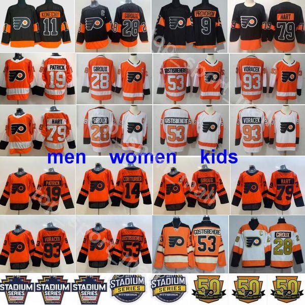 top popular Philadelphia Flyers Jerseys Claude Giroux Travis Konecny Shayne Gostisbehere Jakub Voracek Ivan Provorov Carter Hart Nolan Patrick Couturier 2019