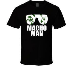 NEUES MACHO MANN RANDY SAVAGE LOGO WEISS BLArriverrive MEN 039 S XXXL ZM1