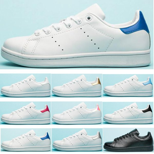 Compre Adidas Stan Smith Original Casual Shoes Smith Hombres Mujeres Verde Negro Blanco Azul Rojo Rosa Plata Para Hombre Stan Zapatos De Cuero