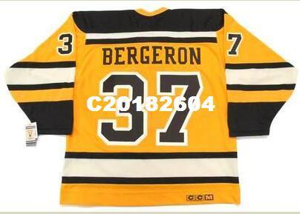 Mens # 37 PATRICE BERGERON Boston Bruins 2010 CCM Vintage