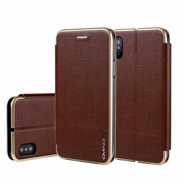 Custodia di vibrazione magnetica di lusso per iPhone 6s 7 8 plus X XS Max XR Custodia in pelle per slot per schede in pelle Custodia a portafoglio