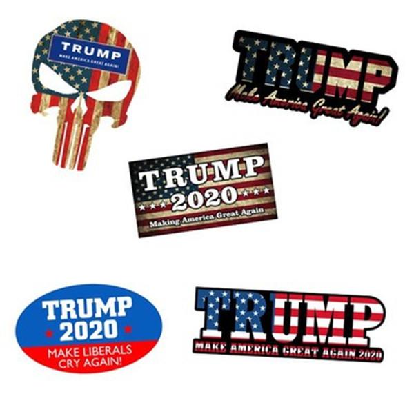 Donald Trump Car Styling Stickers 2020 Make America Great Again Nueva pegatina para el parachoques Camión del coche Pegatina impermeable Decoración Pasta reflectante