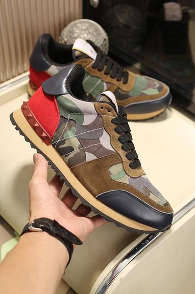 Новый мужской 2019 камуфляж замша шипованные камуфляж рок бегун кроссовки мужские стад случайные дизайнерские кроссовки zapatillas homme размер 38-45 A25