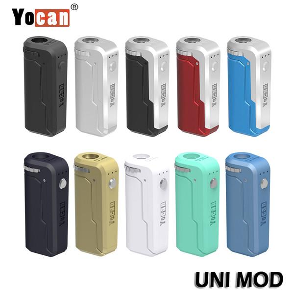 Autentica Yocan UNI Mod Mod Box Box universale per tutta la larghezza di cartucce / atomizzatori Preriscaldamento Voltage regolabile Vape Mod