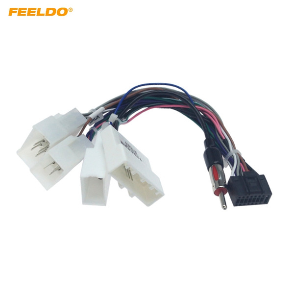 2019 FEELDO 16P Car Head Unit Wire Harness Adapter For Toyota OEM Car on