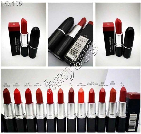 DHL макияж Matte Lipstick Бат Fosco С Английским названием Matte Lip Придерживайтесь Цветом рубин Woo 12 различных цветов