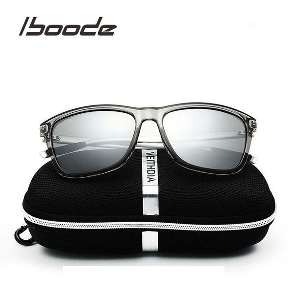 IBOODE Polarized Sunglasses Men Women Vintage Square Lens Sun Glasses Male Driving Eyewear Classic Eyeglasses Retro Mirror UV400
