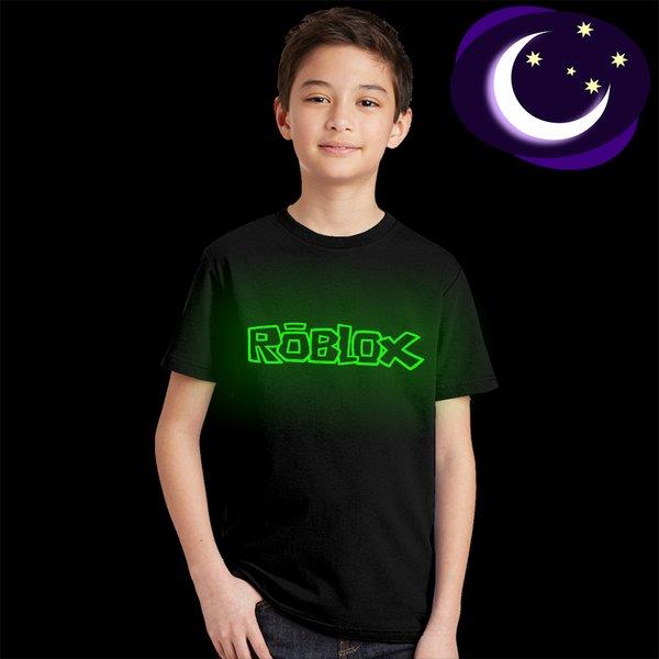 Aydınlık Roblox Karikatür T-shirt Çocuklar için Roblox Glow Karanlık Toddler T Gömlek Genç Rahat Gaem Tshirt Çocuk Hediye Yaz Tops