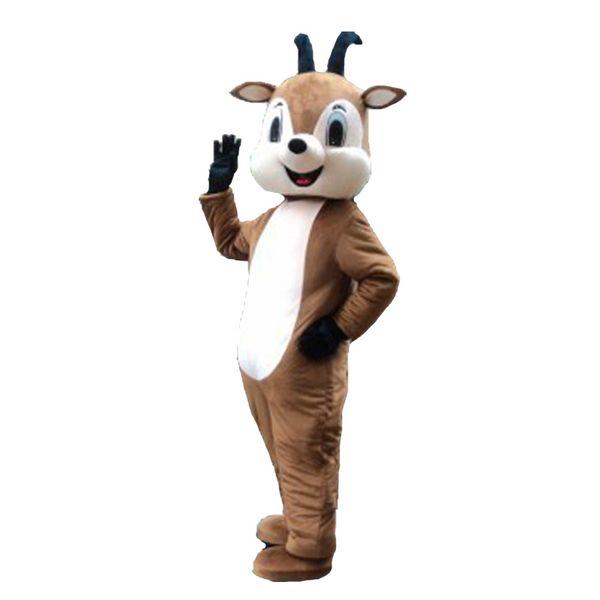 Tamanho adulto do traje da mascote da cabra