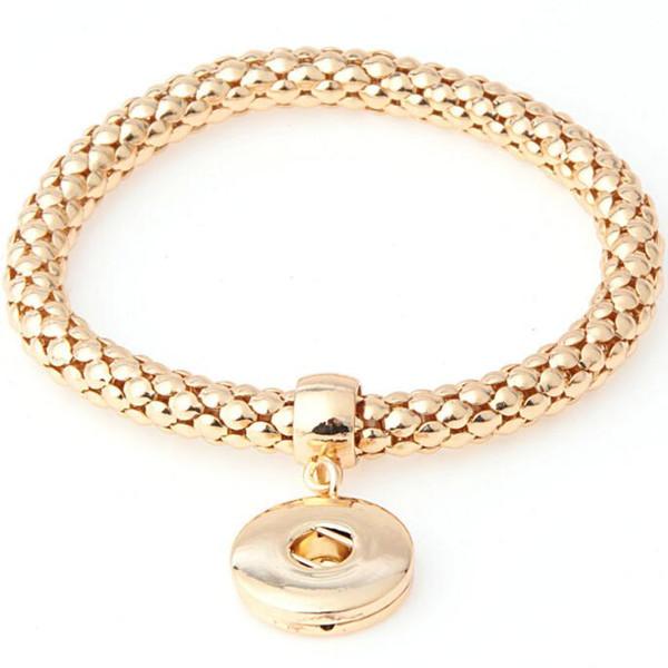 Elastic Persönlichkeit Mode Noosa Knopf Armbänder Corn-Kettenarmbänder Elastic Europa und Amerika Armband-freies Verschiffen