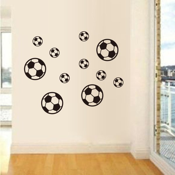 3D Cartoon Football Wall Stickers For Kids Baby Room Bedroom Decoration Self-adhesive Soccer Wallpaper Vinyl Art DIY Wall Decals