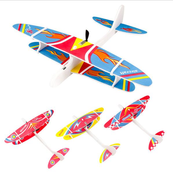 Elétrica espuma planador de carregamento, mão jogando, montagem de aeronaves, parque de venda, modelo de avião modelo de brinquedo da máquina de dupla camada