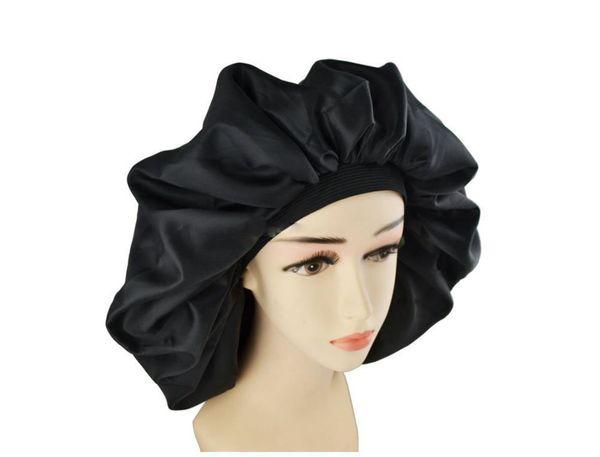 Super Jumbo Sleep Cap, Splash Proof Shower Cap, Night & Day Cap for Women Hair Treatment Protect Hair From Frizzing,Turban Headband