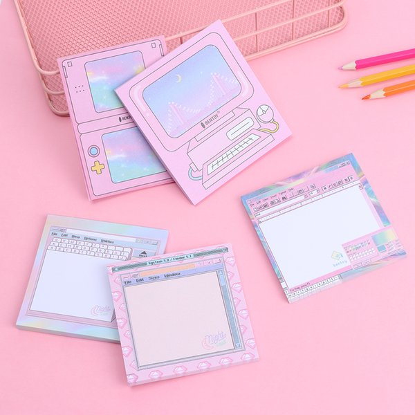 top popular NEW 1PC 50Sheet Computer Game Modeling Memo Pad N Times Sticky Notes Memo Notepad Bookmark Planner Stickers Stationery 2020