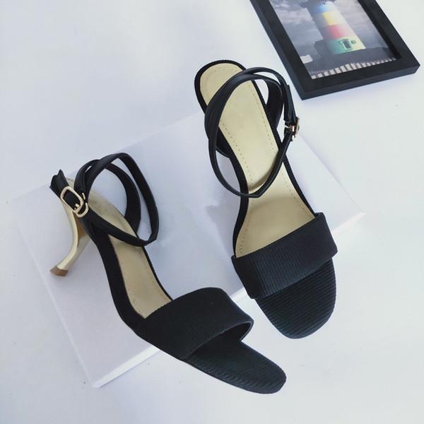 2019 top Real marca de cuero diseño mujer zapatos de vestir de tacón alto fiesta moda chica sexy puntiagudo zapatos de boda sandalias de tacón alto ks190516