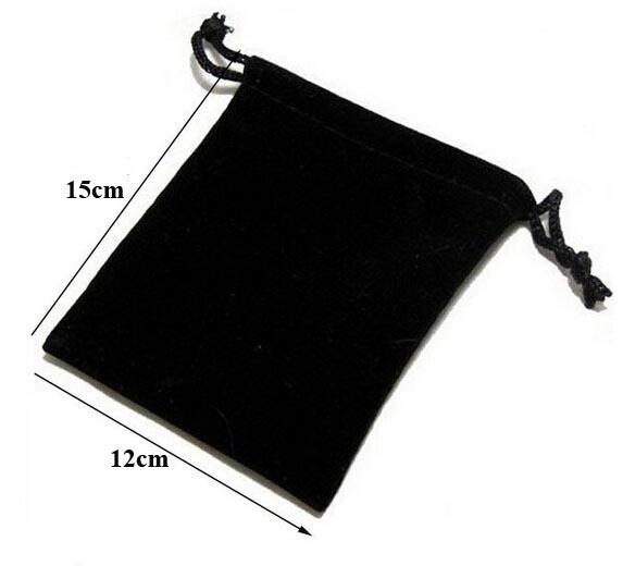 50pcs/lot 12x15cm Black/Red/Rose/Blue/Beige/Coffee/Silver Gray/Green Drawable Velvet Pouch Christmas Wedding Packaging Bags