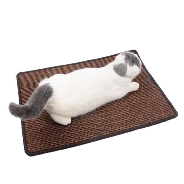 Hayvan Sevimli Kedi Sisal Mat Ev Koruma Pad Kitty Paspaslar Kedi Çizilmeye Kurulu Başkanı Masa Koruyucu Paws Öğütücü kazıyın