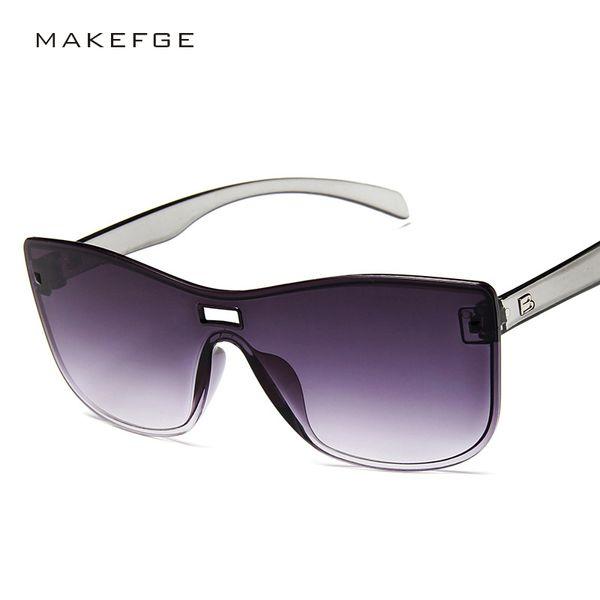 2019 New Fashion High Quality Gradient Lens Sunglasses Women Men Candy Color Ladies Sun Glasses Oversized Brand Designer UV400