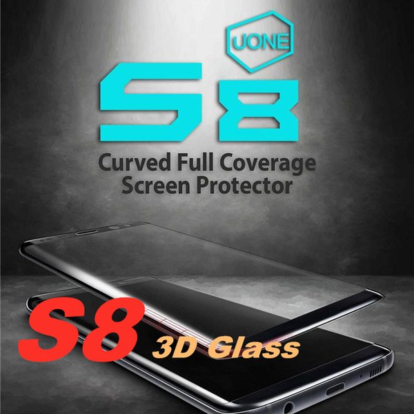 For Samsung Galaxy S8 Plus Note 8 Tempered Glass Screen Protector Exact Design Full Screen Coverage 3D Curved Edge Anti-Scratch, Bubble Free