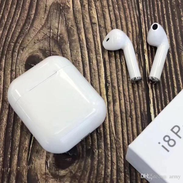 Pop Top I8p Tws Drahtlose Bluetooth Kopfhörer Ohrhörer Kopfhörer Mit Ladegerät Box Vs I8 I7 Für Iphone 7 8 X Android Sams