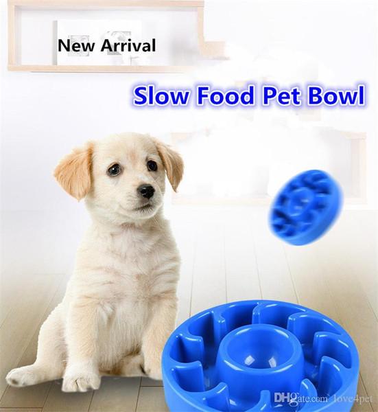 E31 tigelas para animais de estimação de silicone lento Tigelas de comida tigela de alimentação e água dupla utilização 2019 novo estilo