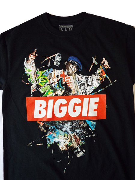 The Notorious Big Biggie Small Womens Hip Hop Legend T-Shirt Design 4 With Text