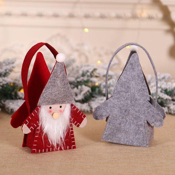 Taşınabilir Şeker Tutucu Çanta yılbaşı hediyesi çanta Noel Hediyesi ev için Noel Partisi süslemeleri Treat Kulp