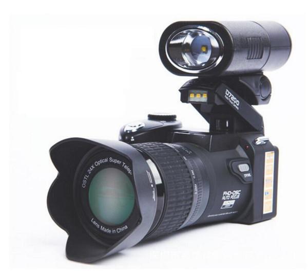 PROTAX POLO D7200 цифровая камера 33MP FULL HD1080P 24-кратный оптический зум Автофокус DSLR Профессиональная видеокамера с 3-линзовым светодиодным прожектором