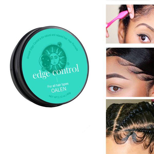 best selling Baby Hair Super Sleek Max Hold Hair Edge Control Cream Gel 60g Long Lasting Waterproof Hair Oil Wax Black Girls Hairstyle 6pcs