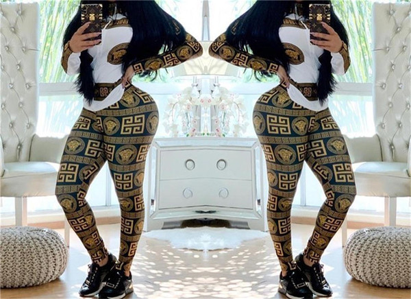 Abbigliamento sportivo da donna primavera autunno con stampa digitale 2pcs pantaloni primavera con abbigliamento casual da donna con cerniera