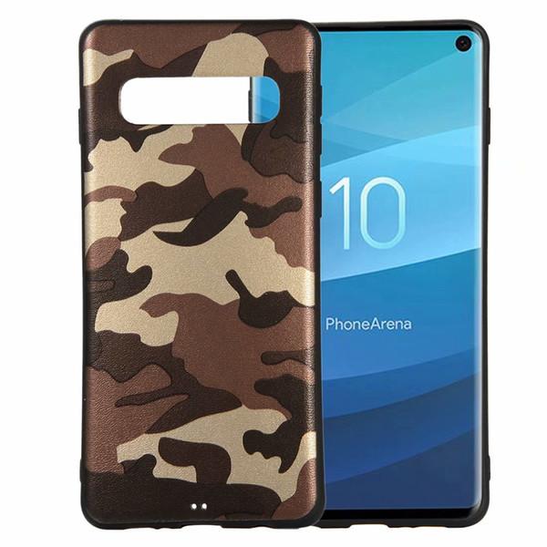 Camouflage Slim-Fit Anti-Scratch ShockProof Anti-Finger Flexible TPU Gel soft Case for Samsung Galaxy S10/Galaxy S10 PLUS/galaxy s10e