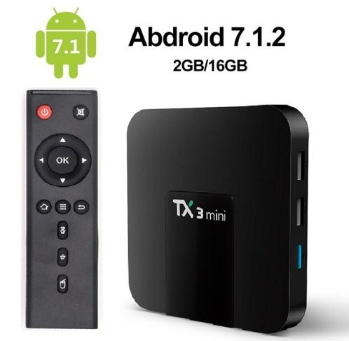 2019 Tx3 Mini Android 7.1 OTT TV Box Amlogic S905W Quad Core 2 GB 16GB 4K intelligente Lettore multimediale in streaming