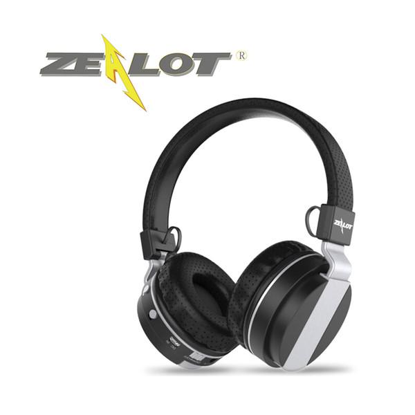 RETAIL-ZEALOT Беспроводные Bluetooth-наушники B17 Casque Over Ear Стерео TF Card16GB FM-радио Складная гибкая конструкция Металлический материал