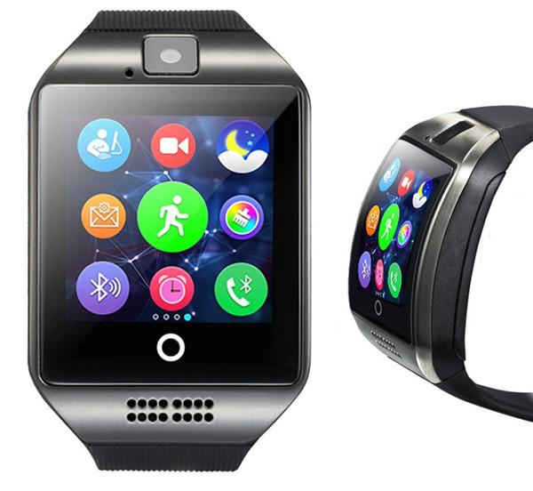 Smart Watch Bluetooth-Uhren für Android-Handys unterstützen SIM-Karte Kamera Anruf annehmen und verschiedene Sprachen einrichten Q18