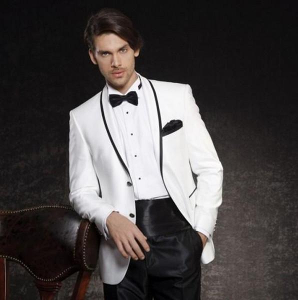 Populares Padrinhos Xaile Lapela Do Noivo Smoking Dois Homens Ternos Dos Homens de Casamento / Prom / Jantar Melhor Homem Blazer (Jacket + Pants + Tie) W323