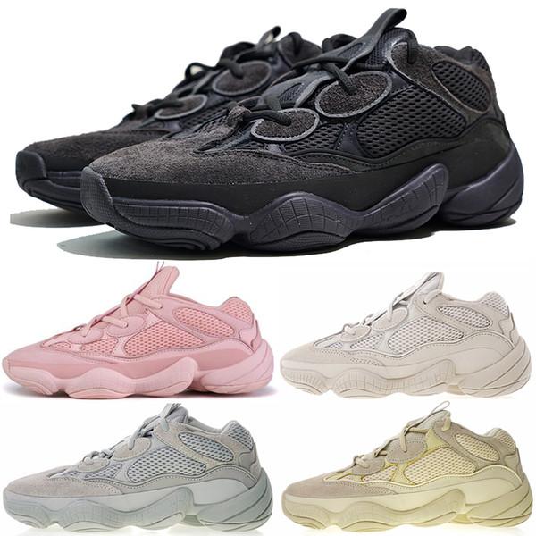 Yeni Runner 500 Allık çöl faresi Tuz Süper Ay Sarı Koşu Ayakkabı Yumuşak Vizyon Kanye West Üçlü Siyah Erkek Kadın Sneaker Spor ayakkabı