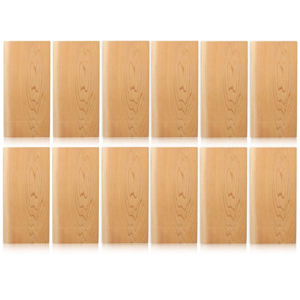 5pcs / 12pcs barbekü Araçları Aksesuarlar Sedir Izgara tahtalar Sigara Çubuk Izgara Mats İçin MoisterMore Flavorful Somon biftek Deniz T200111