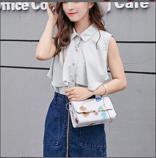 Nuova borsa a spalla singola alla moda con spalla inclinata e borsa MINI SQUARE di personalità